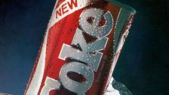 """في أبريل 1985 أطلقت شركة """"كوكاكولا"""" مشروبًا جديدًا حمل اسم """"The New Coke"""""""