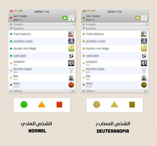 استخدام الاشكال والألوان معاً في iChat