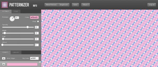 موقع Patternizer ينتج لك أكواد CSS3 لخلفيات Pattern تحددها بنفسك