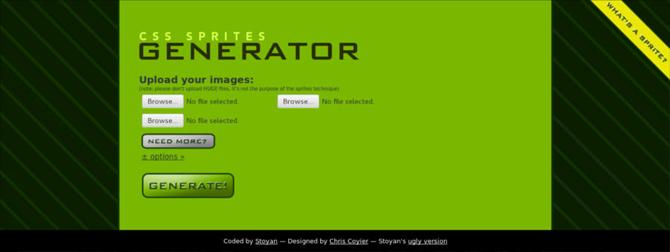 موقع CSS Genertor لتوليد CSS Sprites
