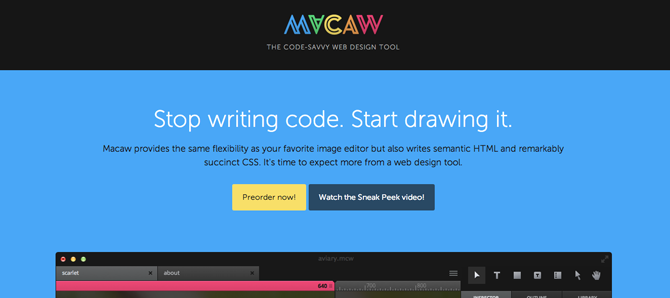 Macaw برنامج مدعوم من Envato يرفع شعار رسم الكود ! Drawing Code