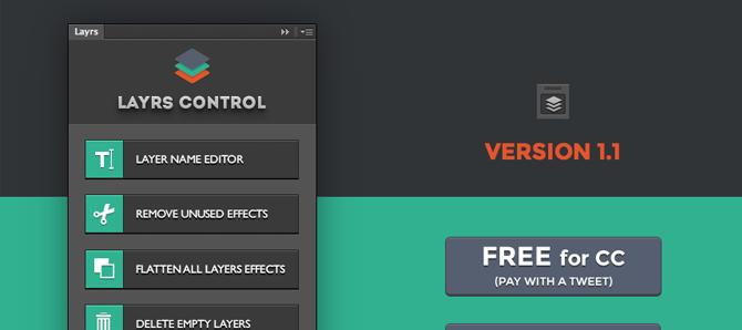 Layers Control اضافة مجانية تقوم بأكثر من وظيفة تنظيمية للملف.